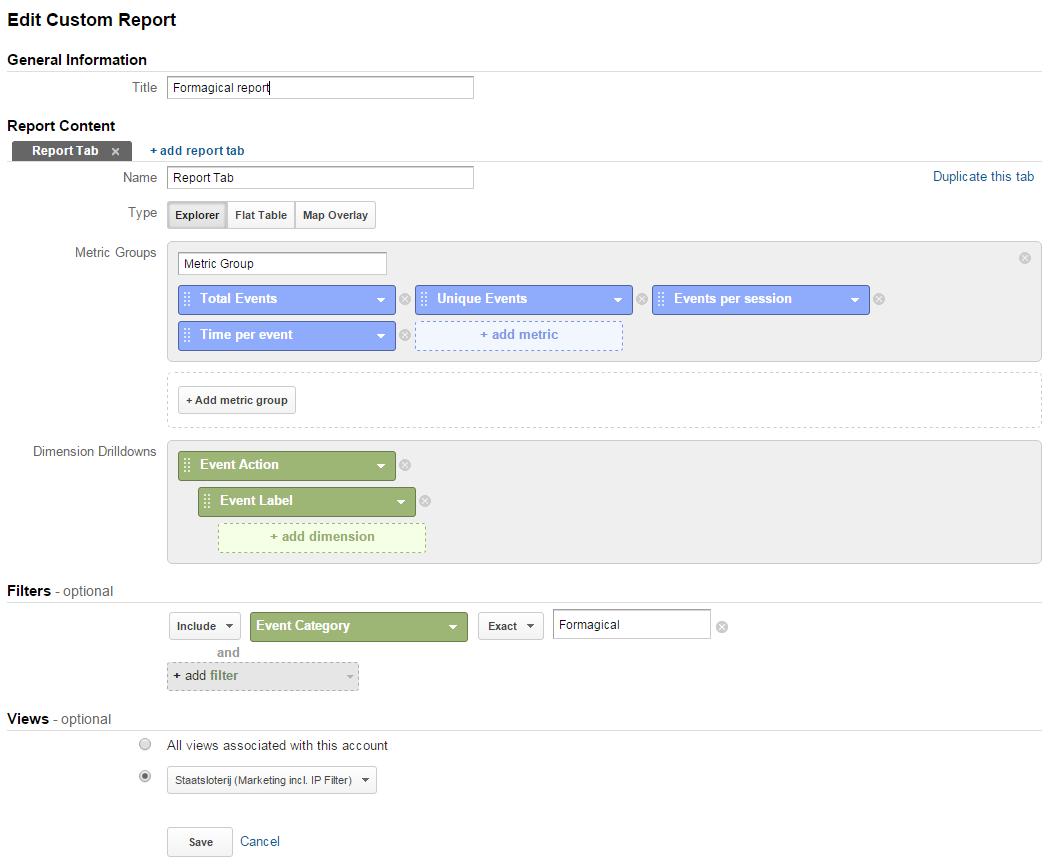 GA Formagical Custom Report setup