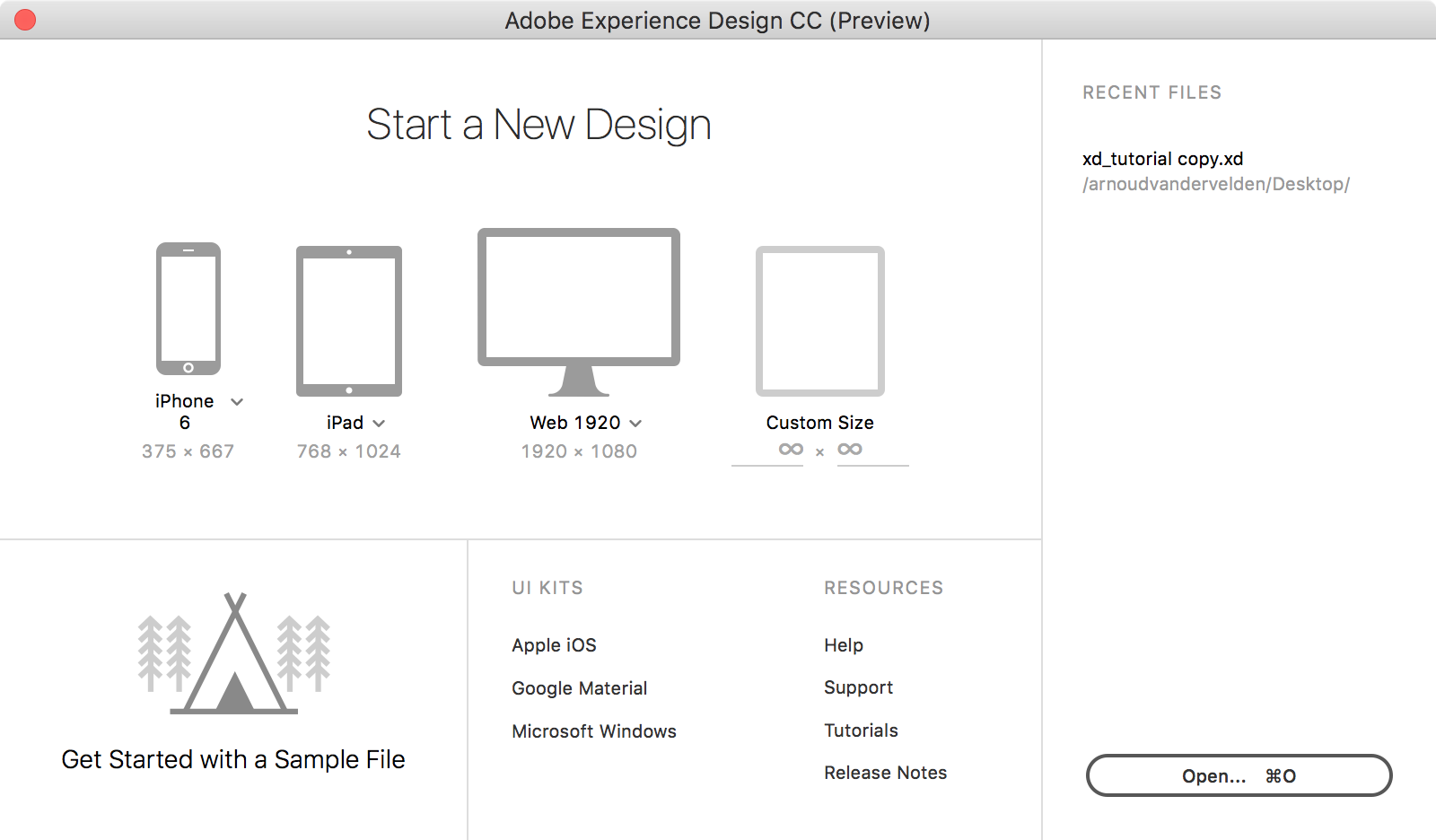 The differences between Adobe Experience Design and Sketch App