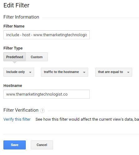 TMT hostname filter
